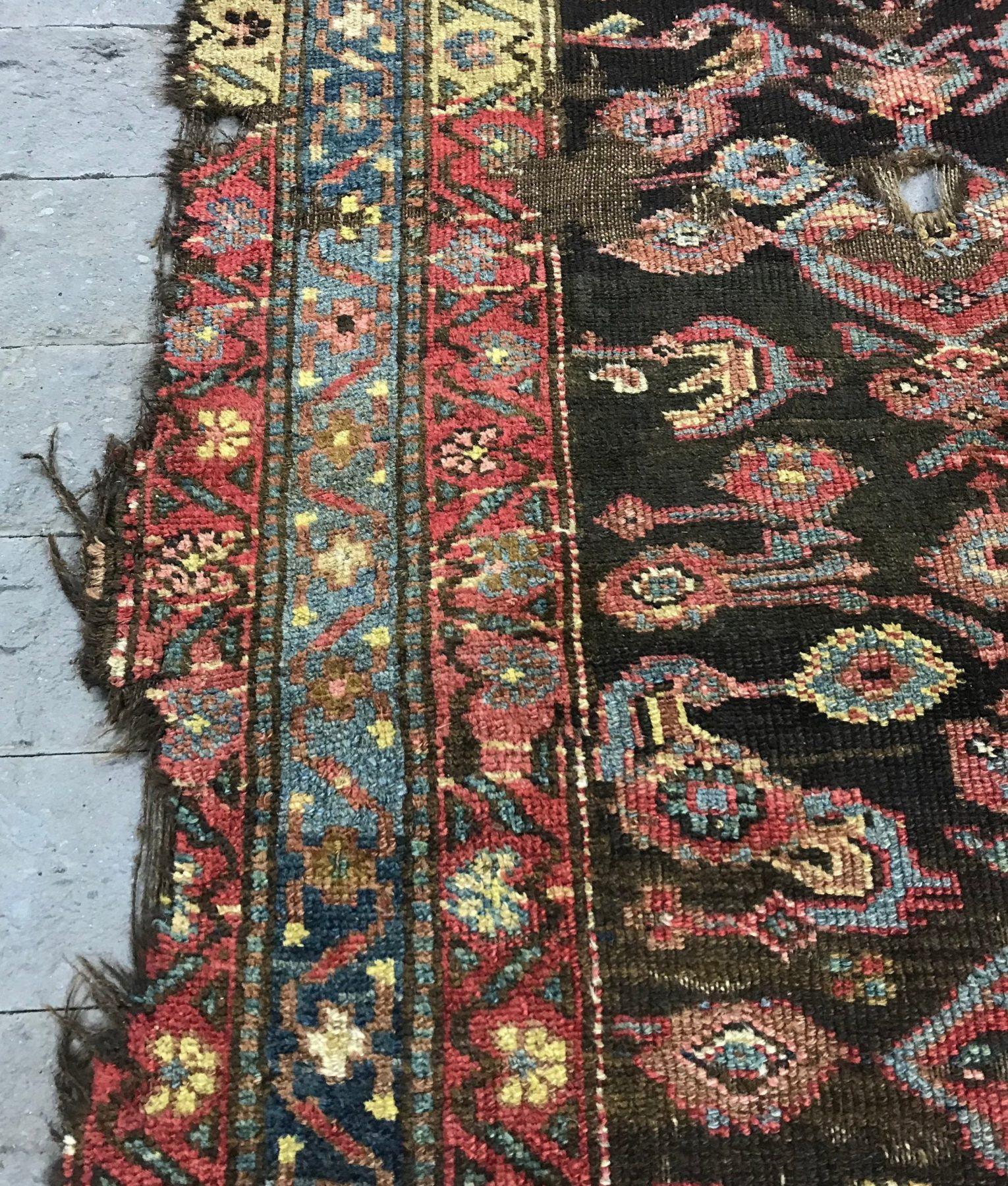 Antique Runner Rug 100 Years Old 3 3x9 3ft Afghan
