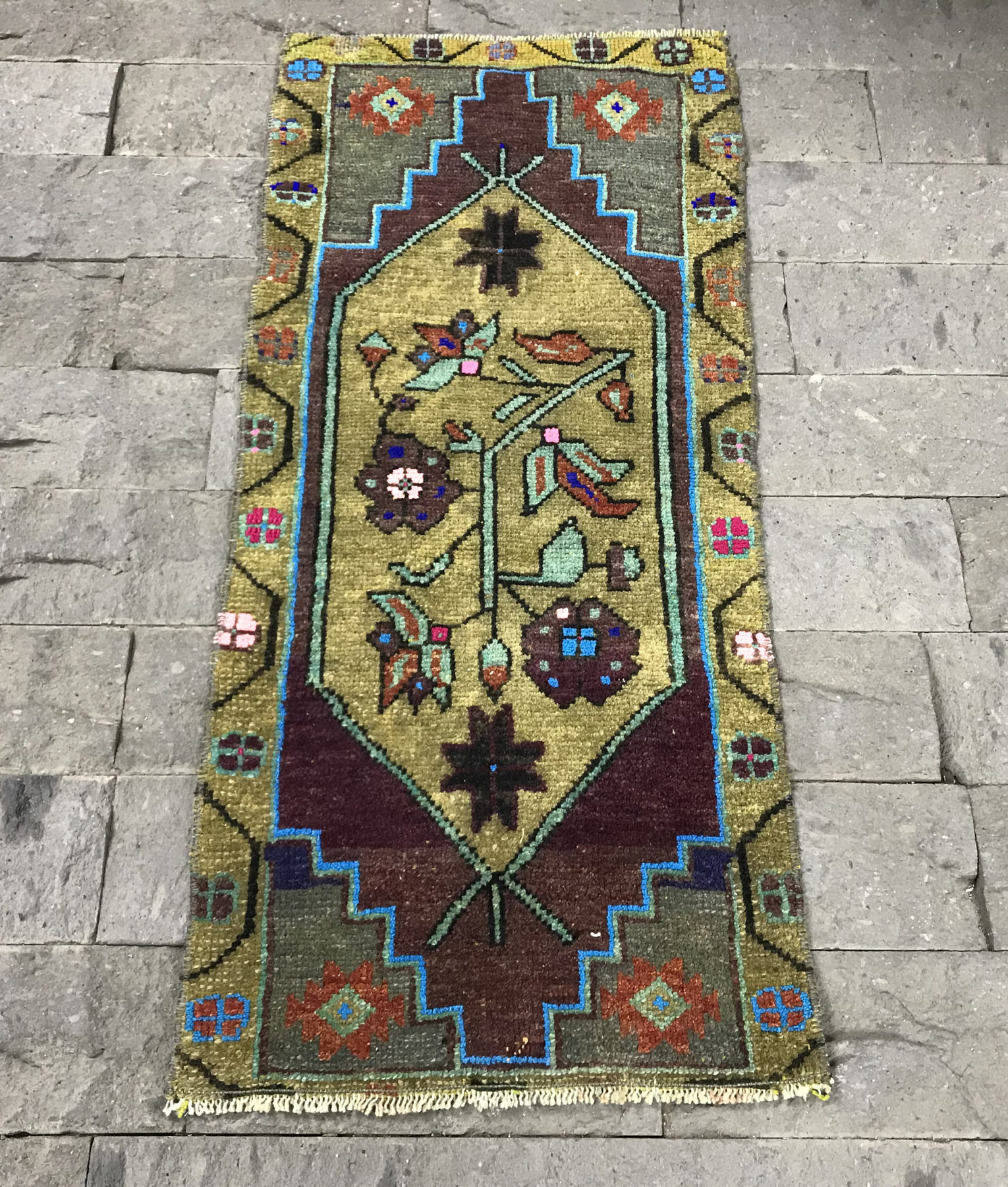 Door Mat Rug 1 4x3 2ft Mute Purple Oushak Rugs Armenian Rug