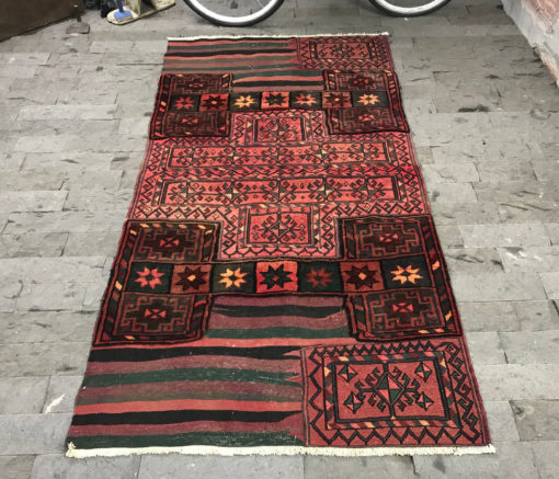 Moroccon Rug 3.9x7.6ft, Runner Rug, Oushak Rug, Antique